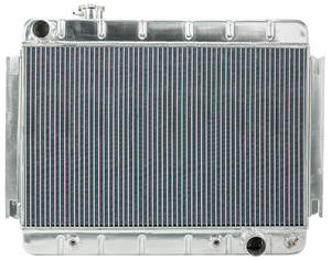 "1966-67 Chevelle Radiators, Aluminum 15-3/8"" X 24-3/4"" AT, Driver Inlet"