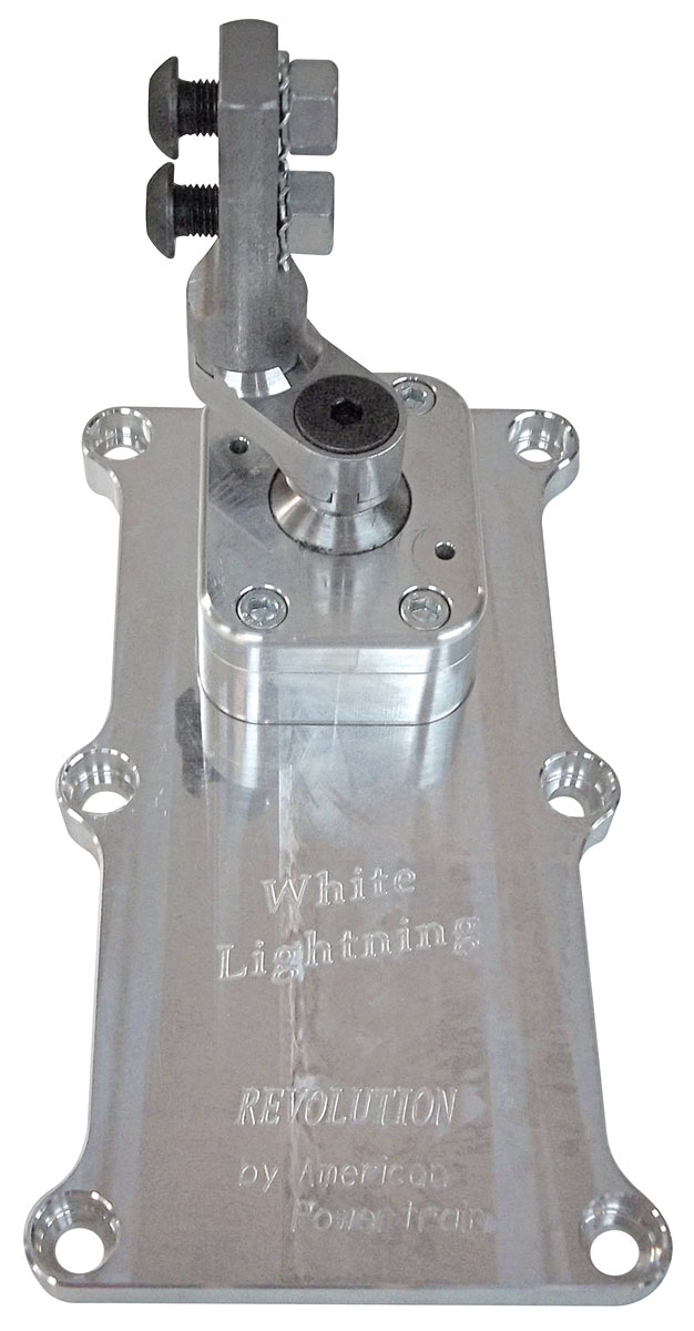 "Photo of Chevelle Shifter, White Lightning, American Powertrain T-56 Magnum, 2.25"" offset"
