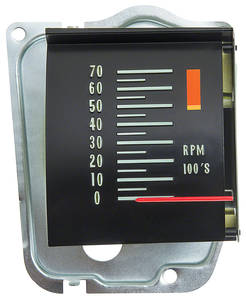 1968 El Camino In Dash Roller Tachometer 5000 RPM Redline