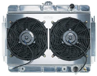 "1964-1965 El Camino Radiator & Fan, Super Duty Aluminum 15-1/8"" X 24-3/4"" AT, Pass Inlet"