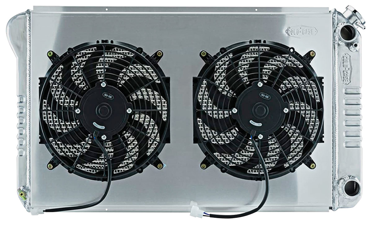 "Photo of Radiator & Fan, Super Duty Aluminum 18-1/2"" X 28-1/2"" AT, LS swap, pass inlet"
