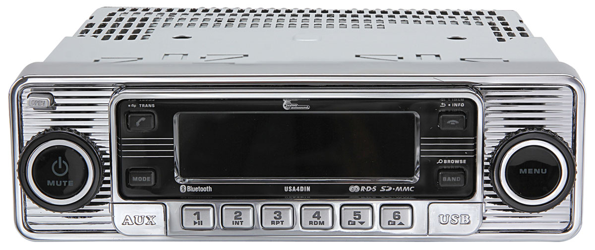 Photo of Stereo, Custom Autosound USA4-Din black