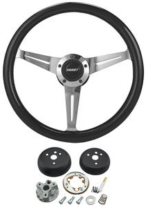 1964-65 El Camino Steering Wheel Kit, Black, by Grant