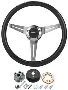 1966 Chevelle Steering Wheel Kit, Black, by Grant