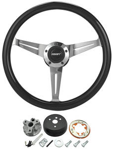 1966 Chevelle Steering Wheel Kit, Black