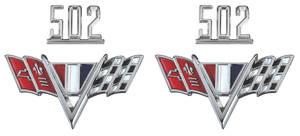 """Chevelle Fender Emblem Kit, 1965-67 """"502"""""""