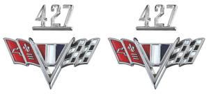 """Chevelle Fender Emblem Kit, 1965-67 """"427"""""""