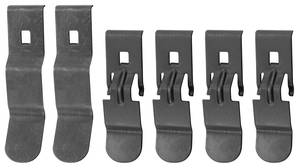 1970-1972 Monte Carlo Dash Pad Clip (Six Clips: Four Small & Two Big)