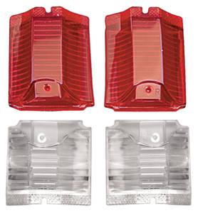 1964-1964 El Camino Tail & Back-Up Lamp Lens, 1964 El Camino & Wagon Lens Kit