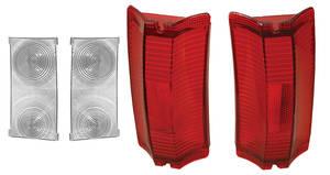 Tail & Diffuser Lamp Lens, 1965 El Camino & Wagon Diffuser & Lenses