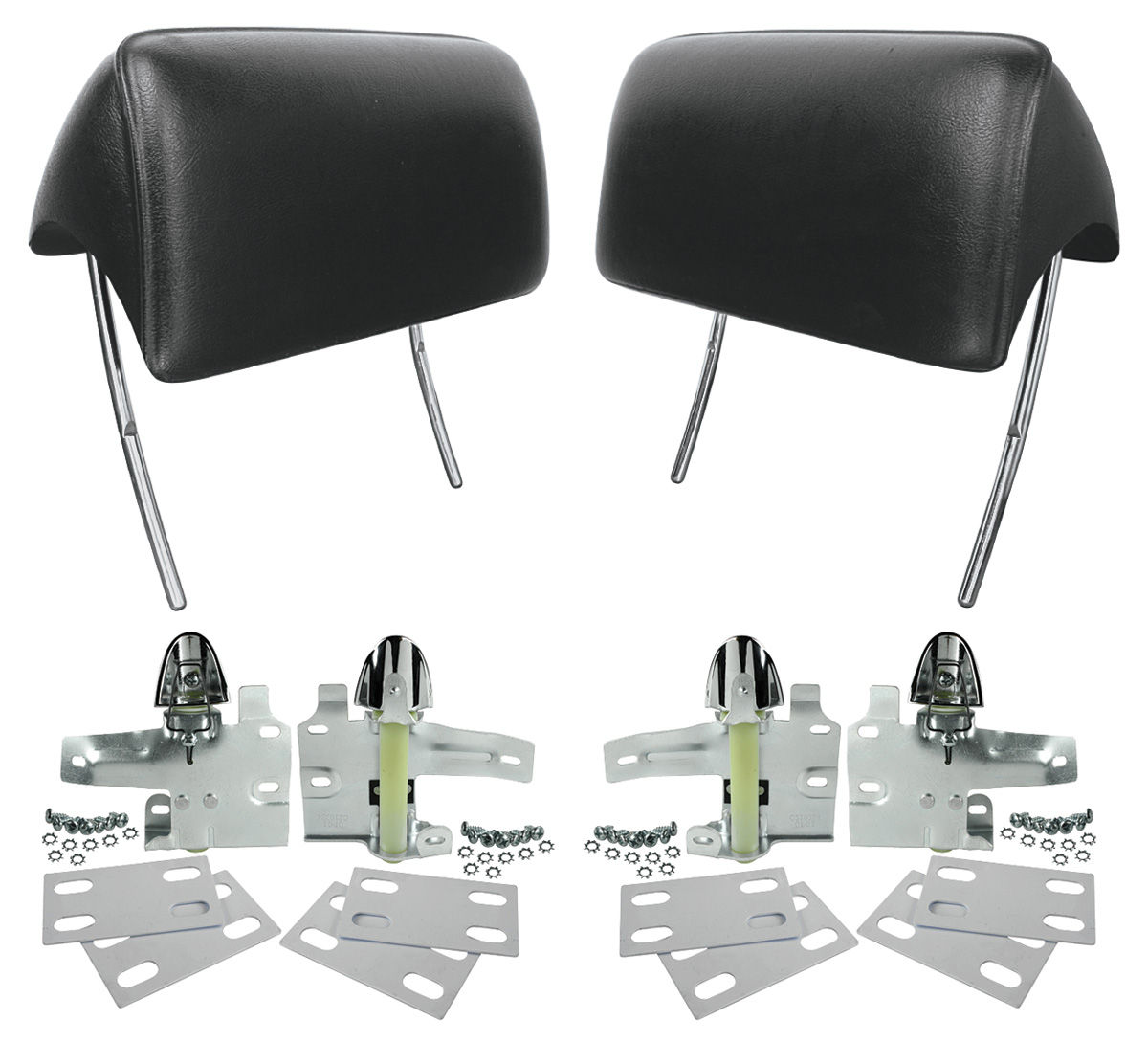 Photo of Headrests, Reproduction Bucket Seat w/mounting kit
