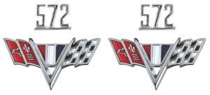 """1965-1967 Chevelle Fender Emblem Kit, 1965-67 """"572"""""""