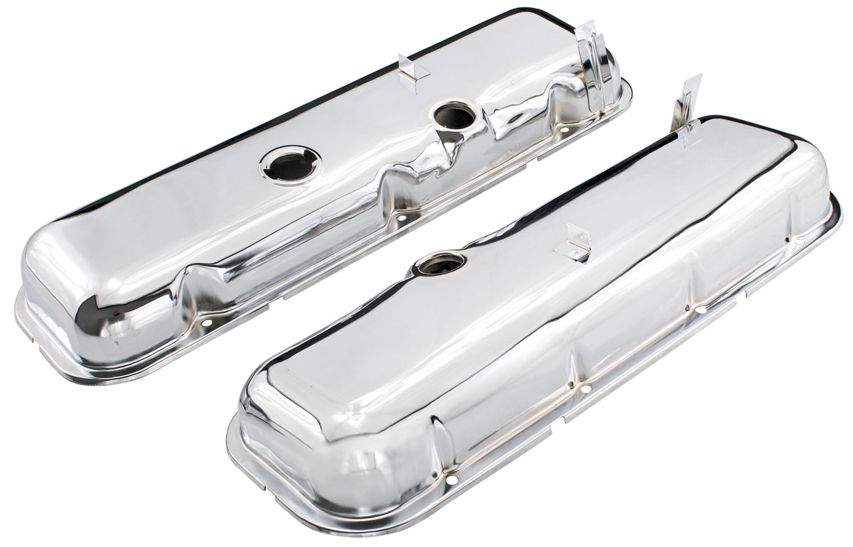Photo of Valve Covers, Reproduction Chrome (Big-Block) non-dripper
