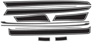 1973-1973 Chevelle Roof & Beltline Body Stripe Decal Chevelle/Malibu, by Phoenix Graphix