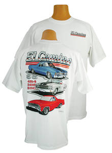 1964-77 El Camino Super Sport T-Shirt Med.-2XL, by Hot Rods Plus