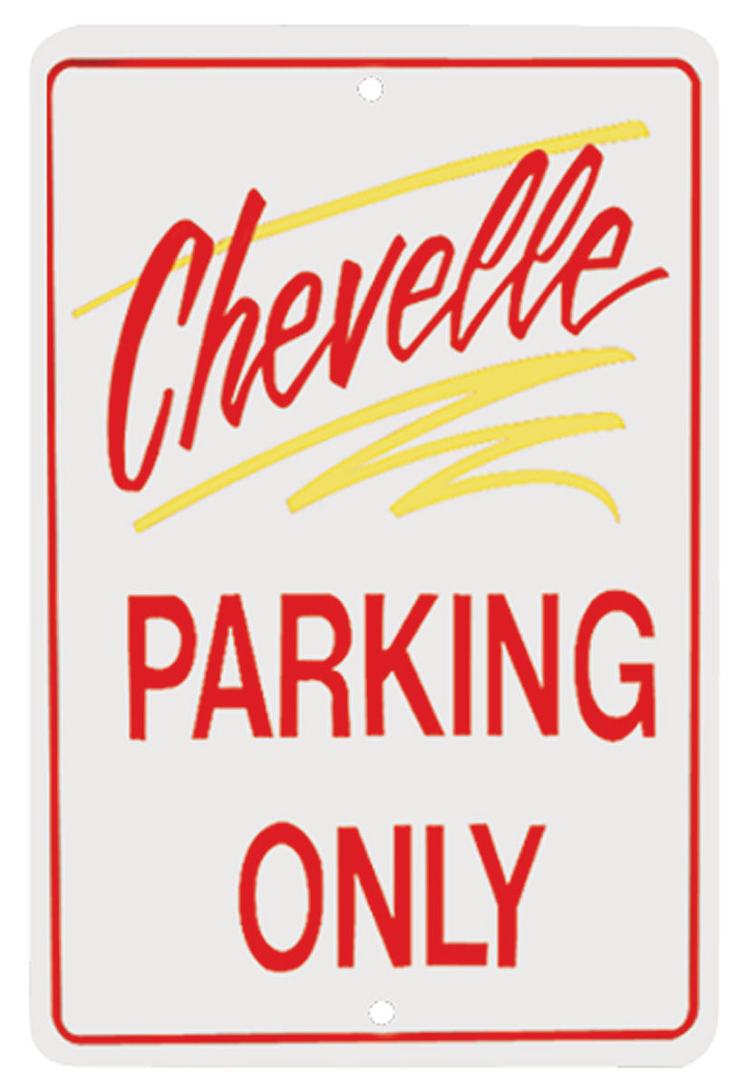 Photo of Parking Only Sign, Aluminum Chevelle