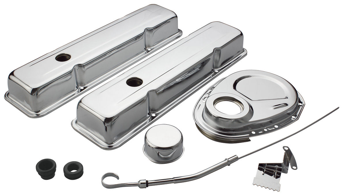 Photo of Engine Accessory Kit, Small-Block Chrome Chevy short
