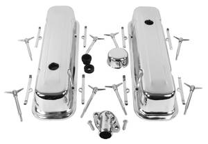 1959-77 Grand Prix Engine Chrome Accessory Kit, by Trans Dapt