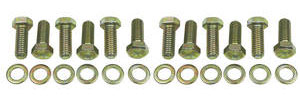 1964-1977 Chevelle Intake Manifold Bolt Kit, Small-Block Hex, Gold, by Trans Dapt