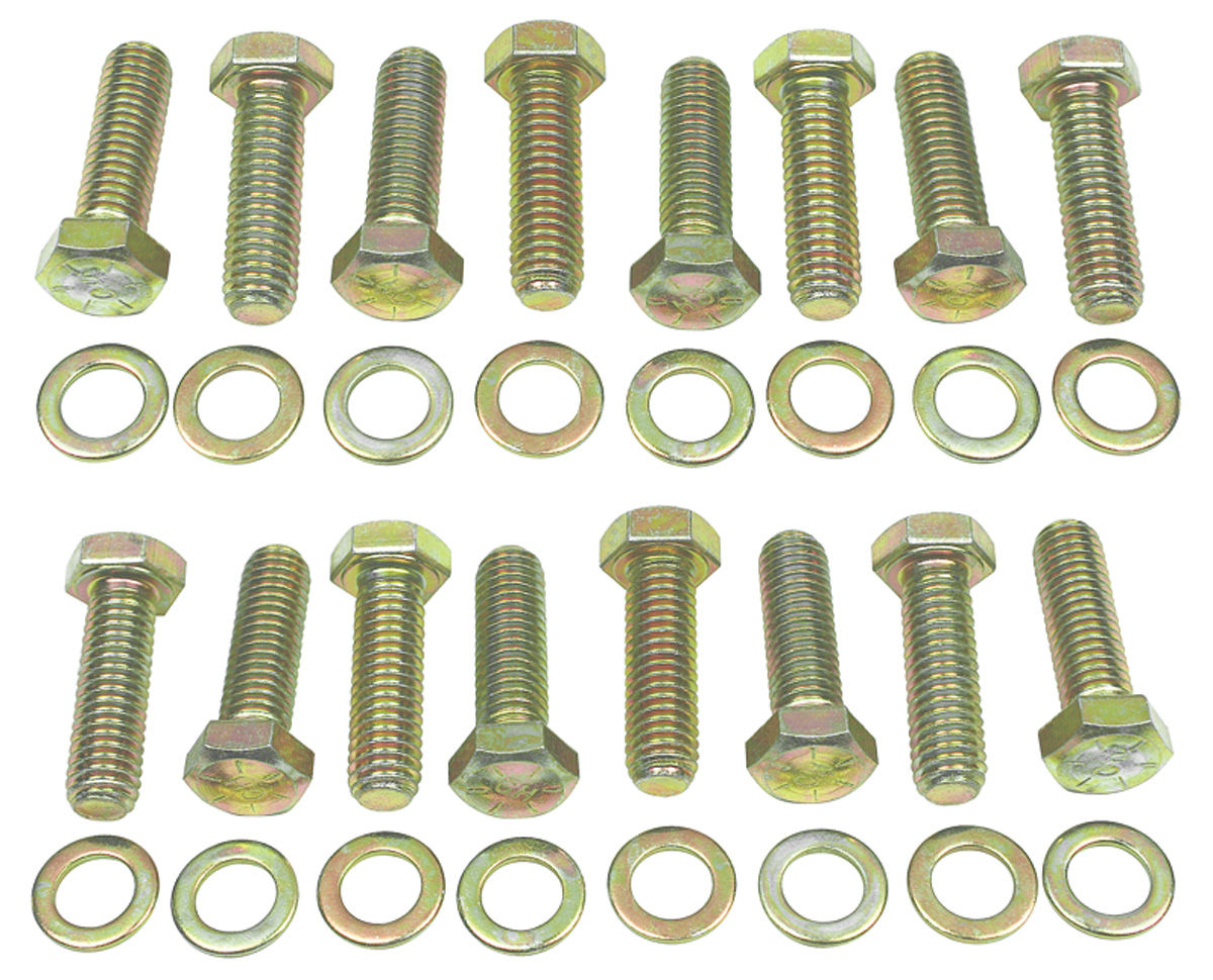 Photo of Monte Carlo Intake Manifold Bolt Kit, Big-Block hex gold
