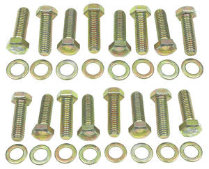 1978-88 El Camino Intake Manifold Bolt Kit, Big-Block Hex Gold