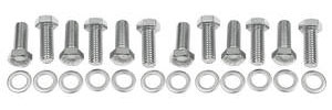 1964-77 Chevelle Intake Manifold Bolt Kit, Small-Block Hex, Chrome