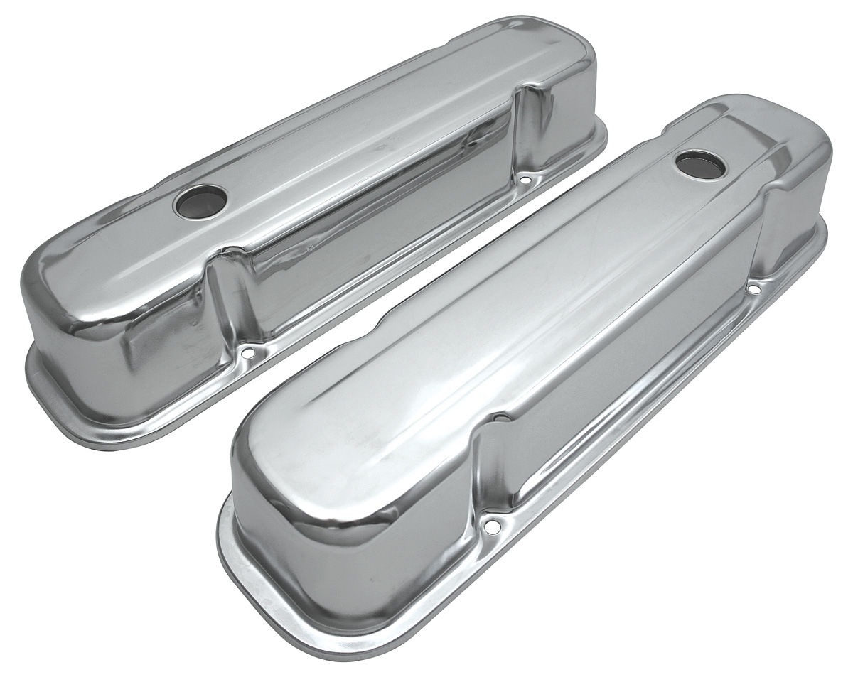 Photo of Valve Covers, Reproduction Chrome baffled