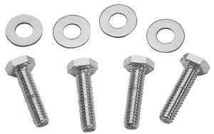 "1978-1983 Malibu Valve Cover Bolts, Chrome 3-3/8"" Long 1/4""-20 Button Head (Center Bolt), by Mr. Gasket"