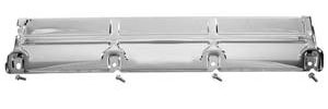 "El Camino Radiator Top Support, 1968-72 Chromed 4-Bolt, 31-3/8"" X 5-3/4"""