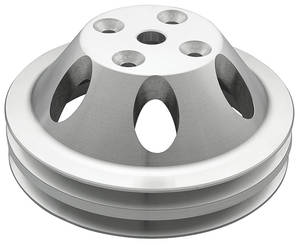 "1978-85 Monte Carlo Pulley, Small-Block V-Belt (Aluminum) Water Pump Double, 6.25"" Dia"