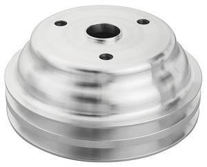 "1978-85 Malibu Pulley, Small-Block V-Belt (Aluminum) Crankshaft Double, 6.875"" Dia"