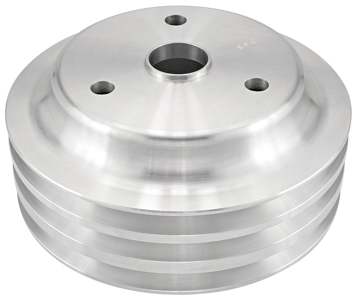 "Photo of Pulley, Small-Block V-Belt (Aluminum) Crankshaft triple, 6.60"" dia"
