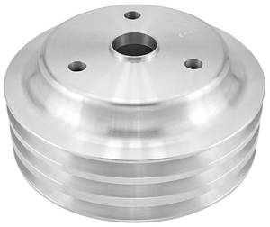 "1978-1985 Monte Carlo Pulley, Small-Block V-Belt (Aluminum) Crankshaft Triple, 6.60"" Dia"