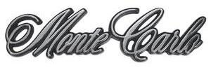"1970-1971 Monte Carlo Trunk Panel Emblem, 1970-71 ""Monte Carlo"" (Stick-On), by TRIM PARTS"