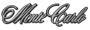 """1973-1973 Monte Carlo Header Emblem, """"Monte Carlo"""", by TRIM PARTS"""