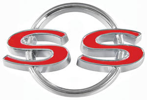 "Chevelle Trunk Lid Emblem, 1964 ""SS"", by TRIM PARTS"