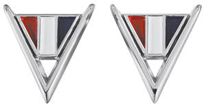 """1964-1964 Chevelle Fender Emblem, 1964 Chevelle """"V"""""""