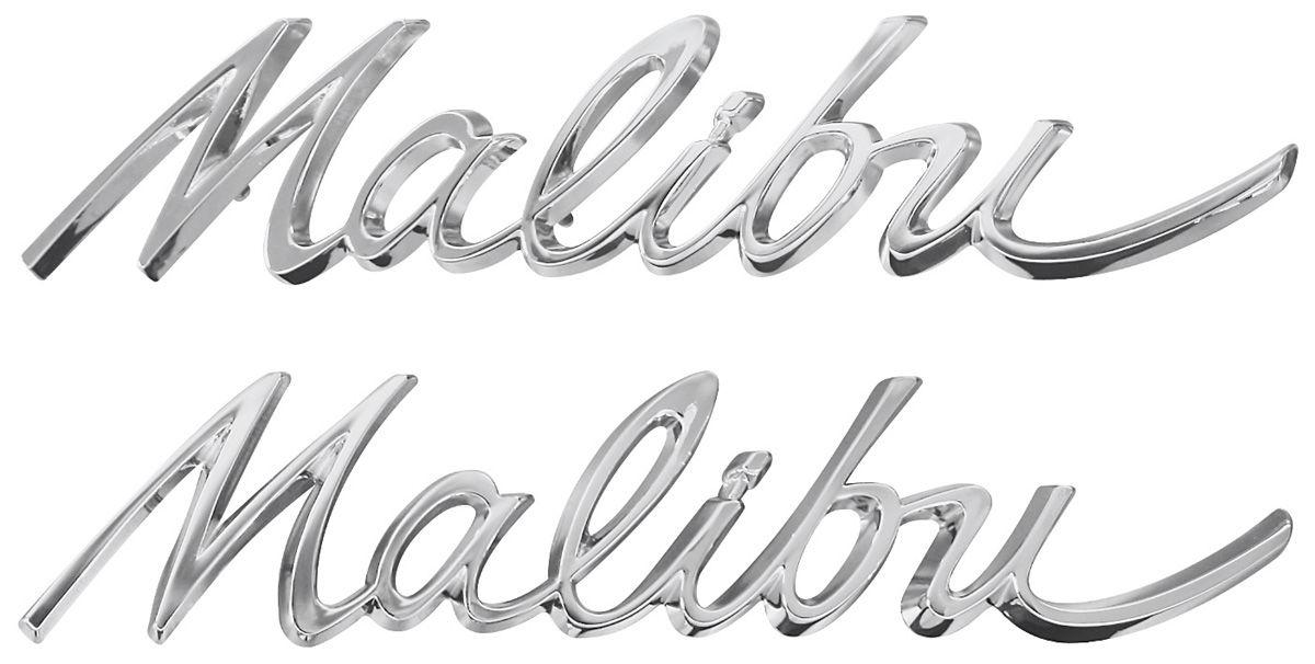 trim parts quarter panel emblem  1964  u0026quot malibu u0026quot  fits 1964