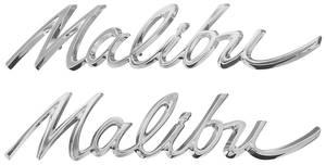 "Quarter Panel Emblem, 1964 ""Malibu"", by TRIM PARTS"