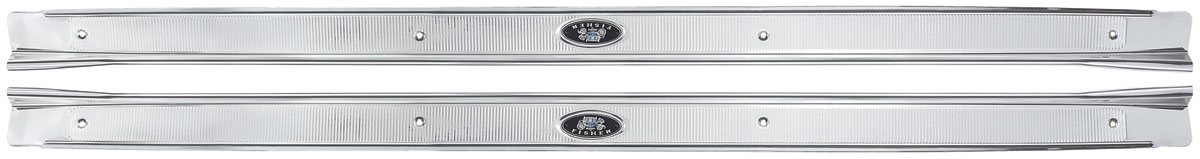 Photo of LeMans Sill Step Plates, Aluminum Fisher Body ribbed-style (LH/RH)