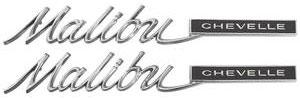 """1965-1965 Chevelle Quarter Panel Emblem, 1965 """"Malibu"""", by TRIM PARTS"""