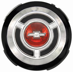 Chevelle Wheel Cover Emblem, 1965 Standard, by TRIM PARTS