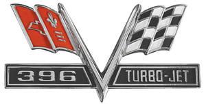 """Chevelle Fender Emblem, 1965-67 """"396 Turbo-Jet"""""""