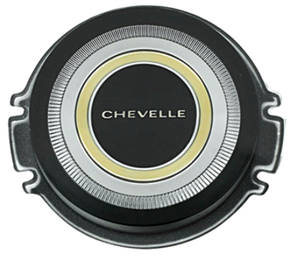 "1966-1966 Chevelle Horn Center Cap, Reproduction ""Chevelle"", Standard Wheel, by TRIM PARTS"
