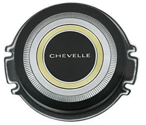 "1966 Horn Center Cap, Reproduction ""Chevelle"", Standard Wheel, by TRIM PARTS"
