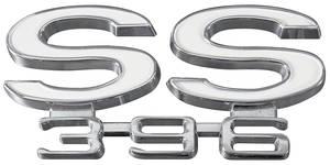"""Chevelle Rear Panel Emblem, 1966 """"SS 396"""", by TRIM PARTS"""