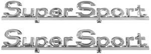 """1966-1966 Chevelle Quarter Panel Emblem, 1966 """"Super Sport"""", by TRIM PARTS"""