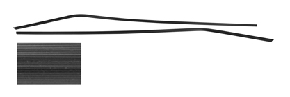 1964-67 Chevelle Headliner Seal Strip, Plastic Interior Rear Side Window Trim 4-dr. Wagon (2-Piece)