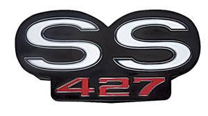 """1967-1967 Chevelle Grille Emblem, 1967 """"SS 427"""", by TRIM PARTS"""