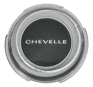 "1967-1967 Chevelle Horn Center Cap, Reproduction ""Chevelle"" Standard Wheel, by TRIM PARTS"